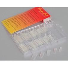 Типсы прозрачные с блеском, в коробке 70шт Размер:9x16x2см №14.190