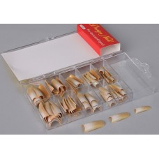 Типсы  золотистые, с блеском, в коробке 70шт Размер:9x16x2см №17.190