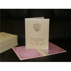 Папка свидетельство о браке айвори №54.135