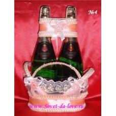 Корзиночка для бутылок персик №4.150