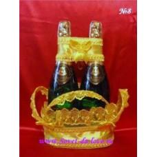 Корзиночка для бутылок желтая №8.150