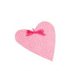 Подвеска Декорация свадебная cердце мелкие сердечки розовые (30.5x26)  №6.100