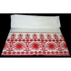 Рушник х/б машинная вышивка цвет: белый Размер 180х42см №423220.330