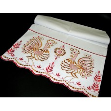 Рушник х/б машинная вышивка цвет: белый №44.280