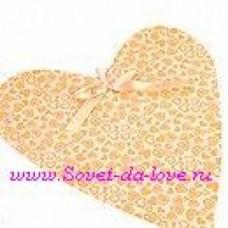 Подвеска Декорация свадебная cердце мелкие сердечки персиковые (30.5x26) №5.100