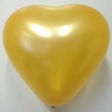 "Сердце Металлик GOLD 6""/15см №01452.3"