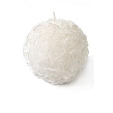 Свеча декоративн. шар из роз (10.3х10.3см) Цвет: белый №83204.225