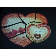 Сердечко-пазл для выкупа из 6 частей картинка на сердце в ассортименте №27.75