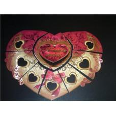 Сердечко-пазл для выкупа из 7 частей картинка на сердце в ассортименте №29.75