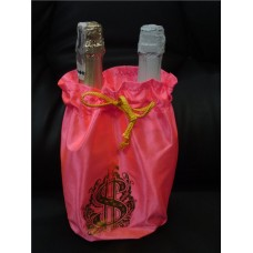 Мешочки на бутылки розовый №57.60