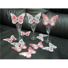 Набор украшений на бокалы Бабочки 15 штук №95.146
