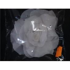 Украшение в волосы Цветок-стразы на заколке автомат 10,5см  №10.210