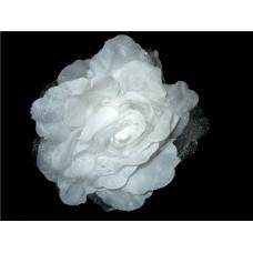 Цветок большой на крабе 16см белый №59.70
