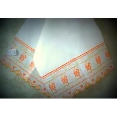 Рушник х/б машинная вышивка цвет: белый Размер 147х45см  №667757.250