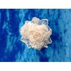 Цветочек-браслет Белый 8см №1524.54