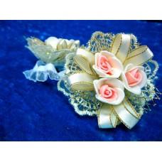 Цветочек-браслет Айвори 8см (отделка в ассортименте) №1755.55