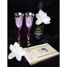 Бокалы для шампанского цвет: как на картинке пара №138.282