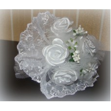 Букет невесты  Белый (атлас) №514.185