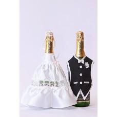 """Костюм на шампанское  """"Жених & Невеста"""" Цвета: белый №1510.122"""
