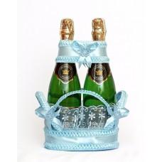 Корзиночка для бутылок Цвет голубой №1517.165