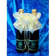 Украшение на шампанское SvetikFantasy айвори №1858.337