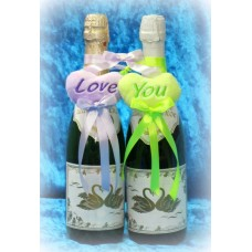 Украшение на шампанское Сердечки SvetikFantasy  №906.130
