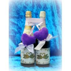 Украшение на шампанское Сердечки SvetikFantasy  №907.130