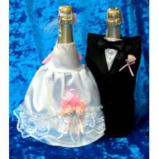 """Костюм на шампанское """"Жених & Невеста"""" SvetikFantasy Цвет: Белый/розовый №987.585"""