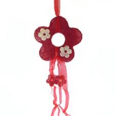 """Декор из сизаля """"Цветок"""", красный, 20 см №609.50"""