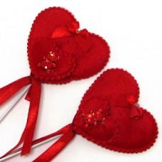 Сердце на палочке, 28 см, D-6,5 см №613.9