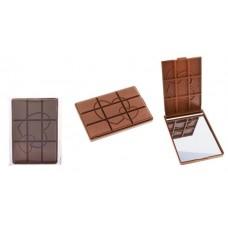 """Зеркало компактное """"Шоколадное чудо"""" с сердцами, звездами размер: 0,8х9,5х14 см №1687.26"""