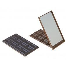 """Зеркало компактное """"Шоколадное чудо"""" большая плитка размер: 0,8х9,5х19,5 см №1688.47"""