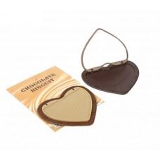 """Зеркало компактное """"Шоколадное чудо"""" с сердцами Цвет в ассортименте размер: 0,8х9,8х11 см №1689.19"""