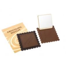 """Зеркало компактное """"Шоколадное чудо"""" Цвет в ассортименте размер: 0,8х10х11 см №1690.19"""