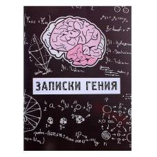 """Блокнот """"Записки гения"""", 40 листов Размер:10,3x13,8x0,5см №2042.27"""