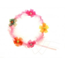 Карнавал венок мех с цветочками Размер:20см №2081.45