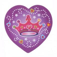 Сердечко  цвета, рисунок в ассортименте 6х5см №395.6