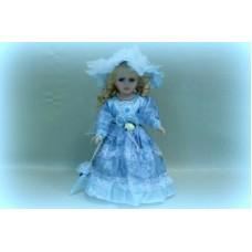 Кукла керамика 32см цвет: голубой №407.381