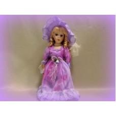 Кукла керамика 32см цвет: сиреневая №413.381