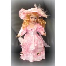 Кукла керамика 32см цвет: розовая №409.381
