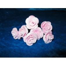 Шпильки Розочки розовые d:3см  латекс Цена: за 1 штуку №1771.18