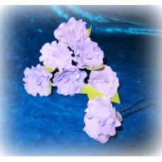 Шпильки Розочки-Волна  сиреневые d:3см  латекс Цена: за 1 штуку №1775.30