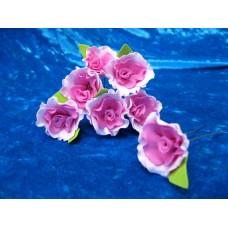 Шпильки Розочки-Волна лиловые/фуксия d:3см  латекс Цена: за 1 штуку №1777.30