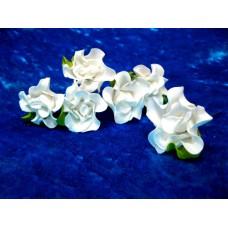 Шпильки Розочки белые большие d:4,5см  латекс Цена: за 1 штуку №1779.38