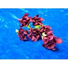 Шпильки Розочки большие Бордо/матовые d:4,5см  латекс Цена: за 1 штуку №1780.38