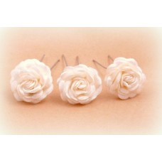 Шпилька для волос Цветок   Цена за 1 штуку Цвет: айвори