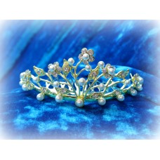 Диадема-гребешок в волосы 4смх9см  Цвет: золото  №824.105