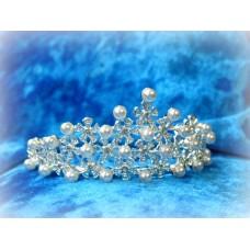 Диадема-гребешок в волосы 4смх9см  Цвет: серебро  №825.105