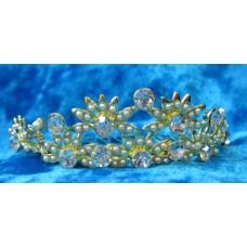 Диадема-гребешок в волосы 2,7смх8,5см  Цвет: золото  №826.115