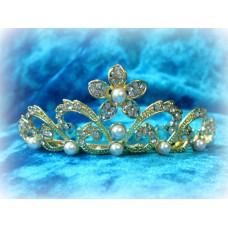Диадема-гребешок в волосы 3,5смх8см  Цвет: золото  №828.120